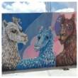 """La """"Llamita Azul"""", pintures de l'entrada del CRAP"""